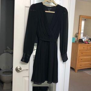 Black Forever 21 Surplus Long Sleeve Dress